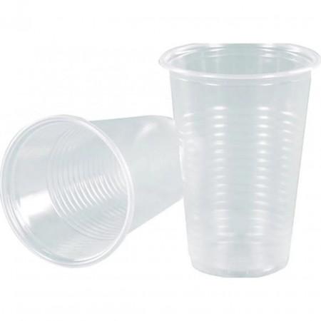 Стакан пластиковый 200мл прозрачный 100шт