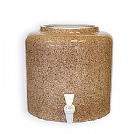 Диспенсер для води керамічний «Мрамор Коричневий» ціна
