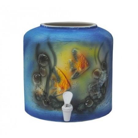 Диспенсер для воды «Аквариум лепка» керамический