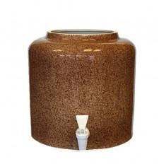 Диспенсер для воды «Мрамор Коричневый» керамический