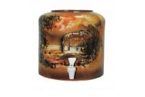 Диспенсер для воды керамический «Хата коричневый» цена в Киеве