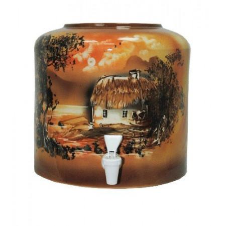 Диспенсер для воды «Хата» коричневый керамический