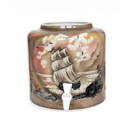 Диспенсер для воды «Парус» коричневый керамический
