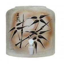 Диспенсер для воды шамот «Бамбук коричневый» керамический