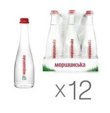Вода Моршинська Преміум слабогаз 0,5л скло, упаковка 6 шт