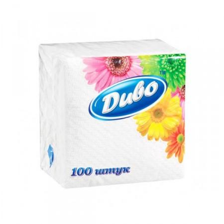 Салфетки бумажные белые Диво 330*330 мм, 100 шт