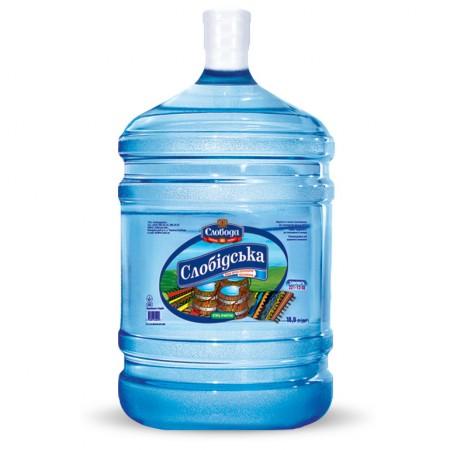 Питьевая бутилированная вода «Слобідська» смягченная 18,9л