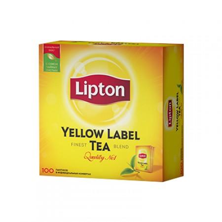 Чай Lipton Yellow Label 100 пакетиків  ціна