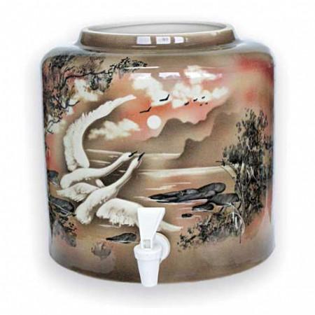 Диспенсер для воды «Птицы» керамический