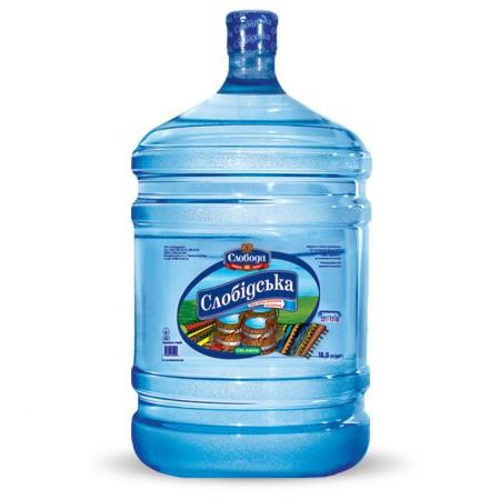 """Артезіанська вода """"Слобідська"""" природна 18,9л ціна"""