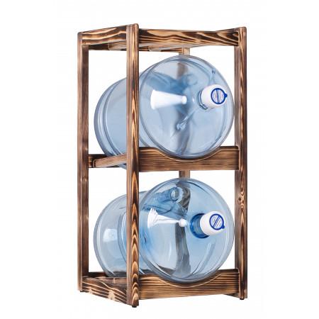 Подставка деревянная WS-2, под 2 бутыли, Зебрано